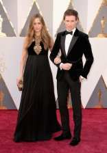 Hannah Bagshawe and Eddie Redmayne both in Alexander McQueen