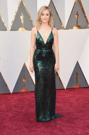 Saoirse Ronan in Calvin Klein Collection