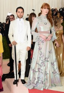 Jared Leto and Florence Welch in Gucci