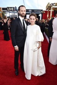 Natalie Portman, pictured with Benjamin Millepied.
